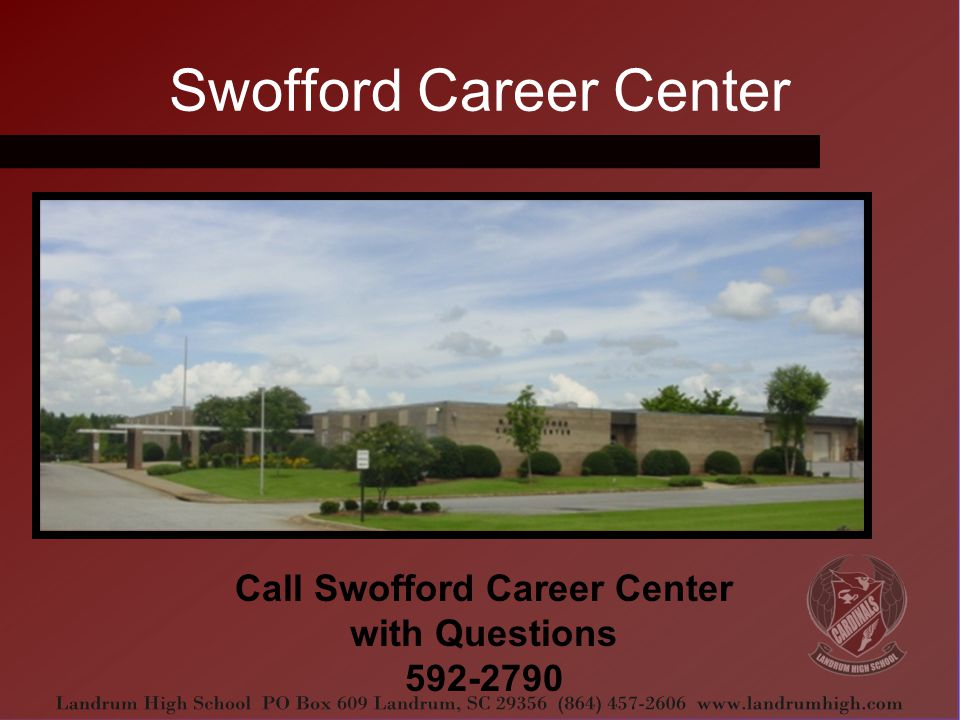 Swofford Career Center Call Swofford Career Center with Questions 592-2790