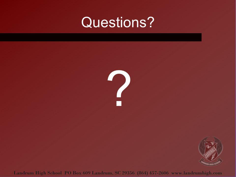 Questions? ?