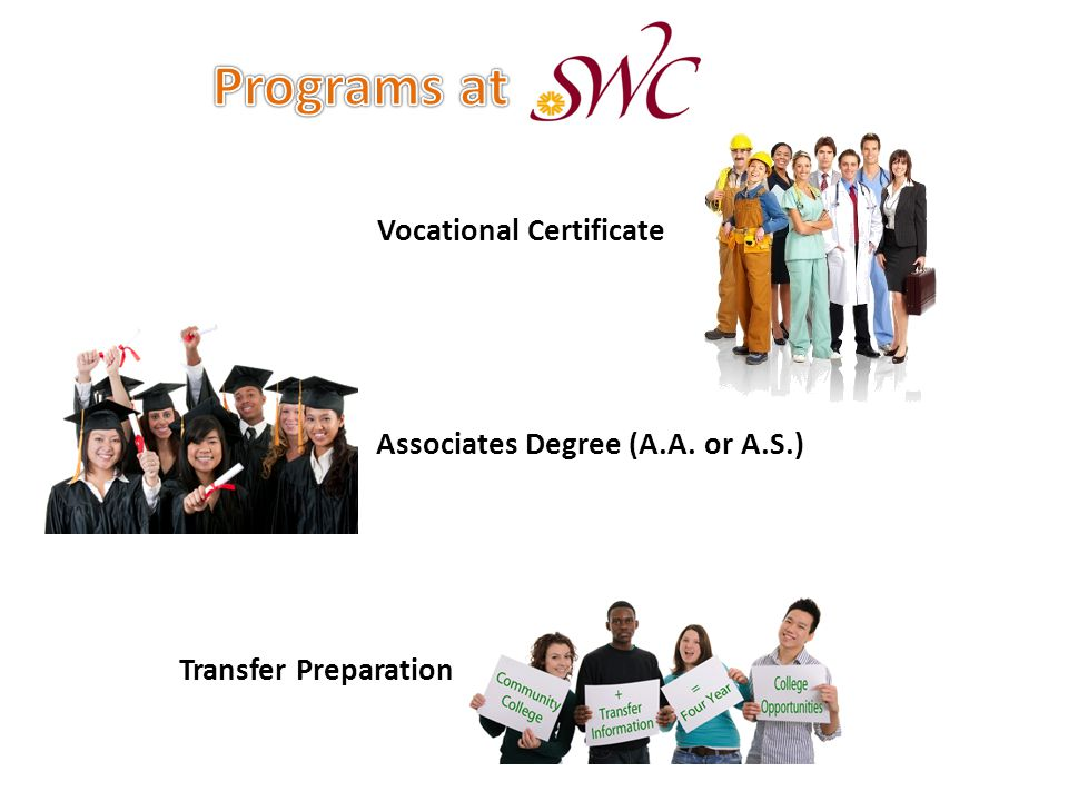 Associates Degree (A.A. or A.S.) Transfer Preparation Vocational Certificate