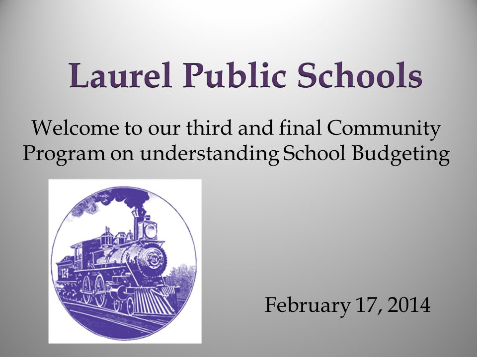 Welcome to our third and final Community Program on understanding School Budgeting February 17, 2014