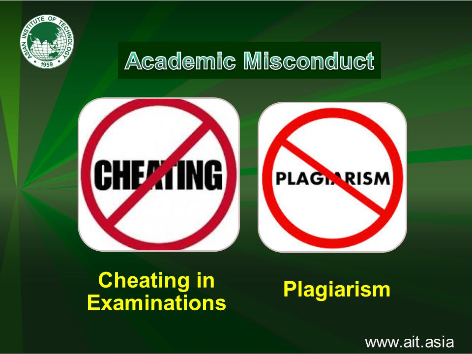 www.ait.asia Cheating in Examinations Plagiarism