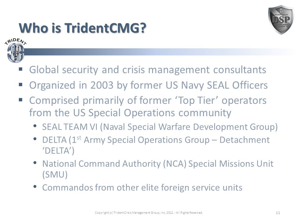 Who is TridentCMG.