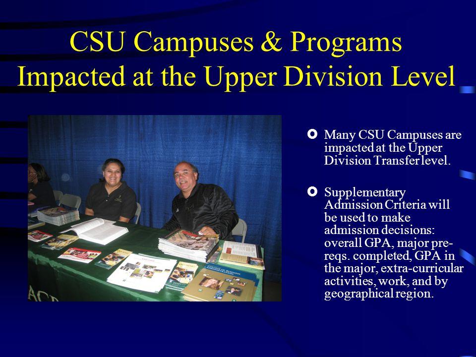 CSU Major Prep Articulation Agreement