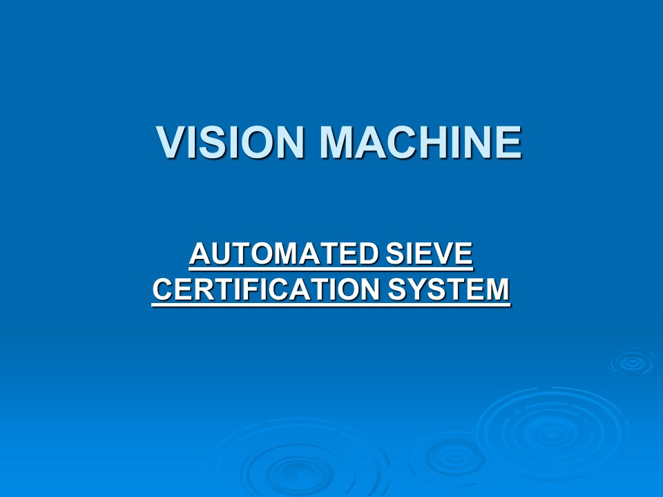 CERTIFY YOUR TEST SIEVES IN-HOUSE, IN MINUTES.