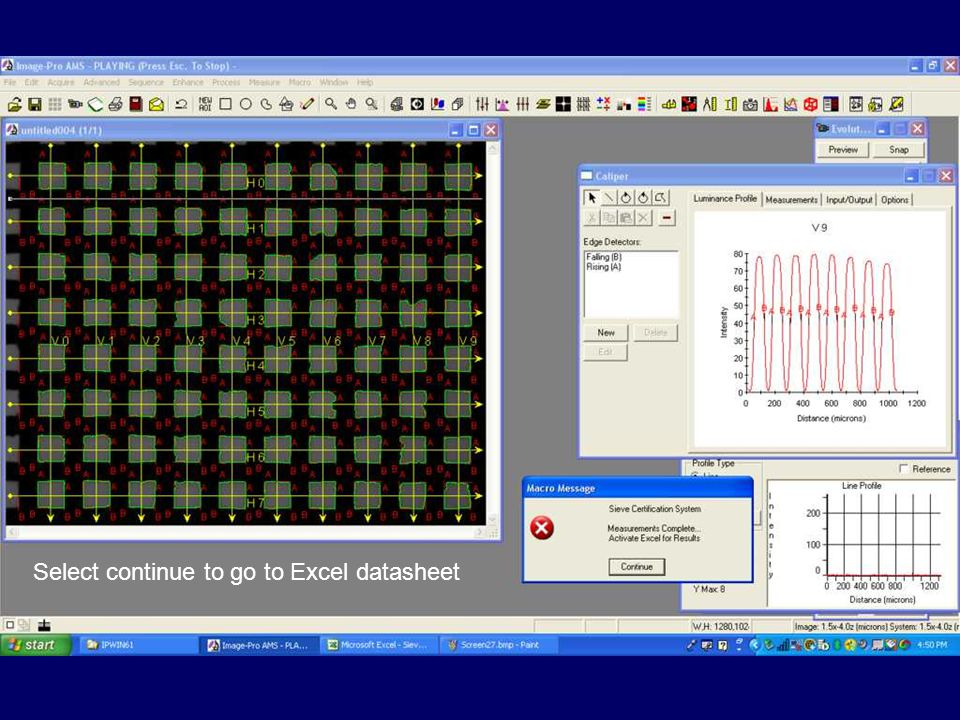 Select continue to go to Excel datasheet