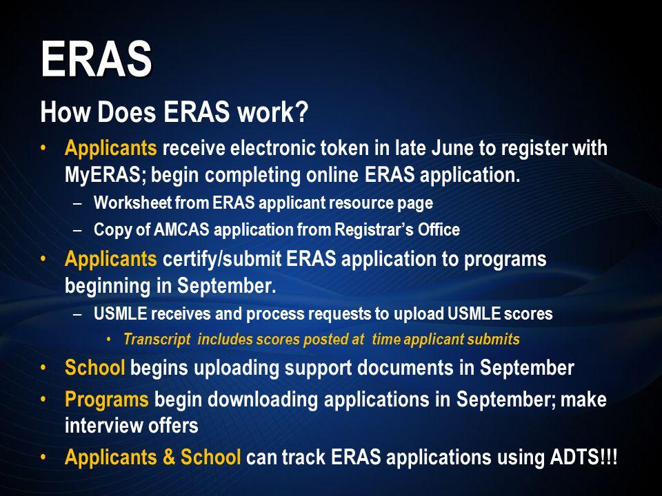 ERAS How Does ERAS work.