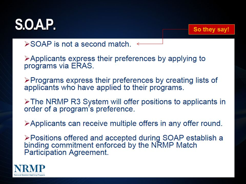 S.O.A.P. So they say!