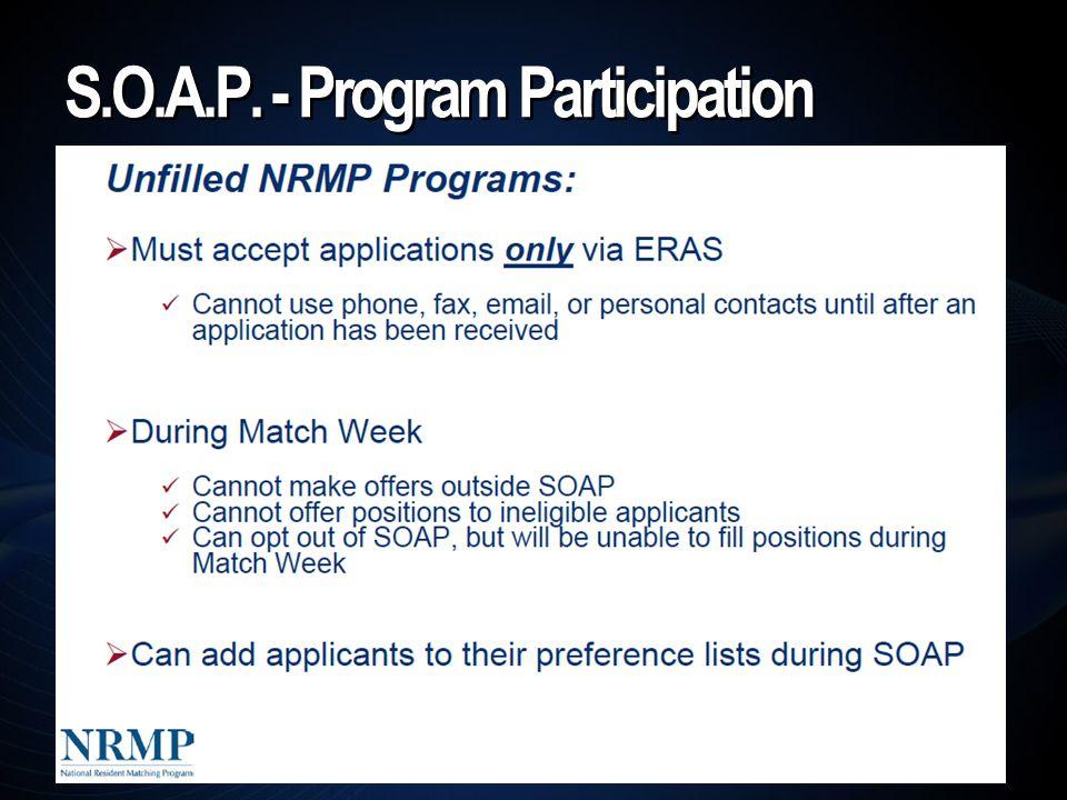 S.O.A.P. - Program Participation