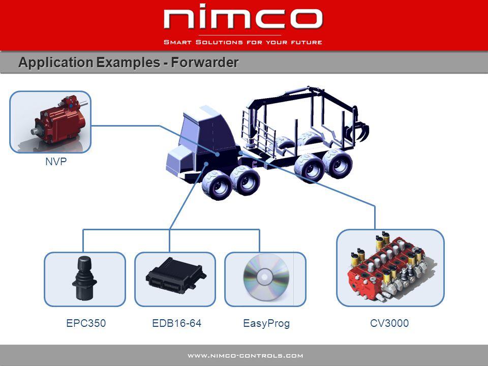 Application Examples - Forwarder EPC350EasyProgCV3000 NVP EDB16-64