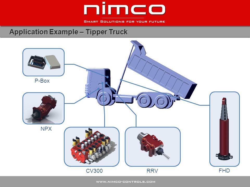 Application Example – Tipper Truck P-Box CV300 NPX RRV FHD