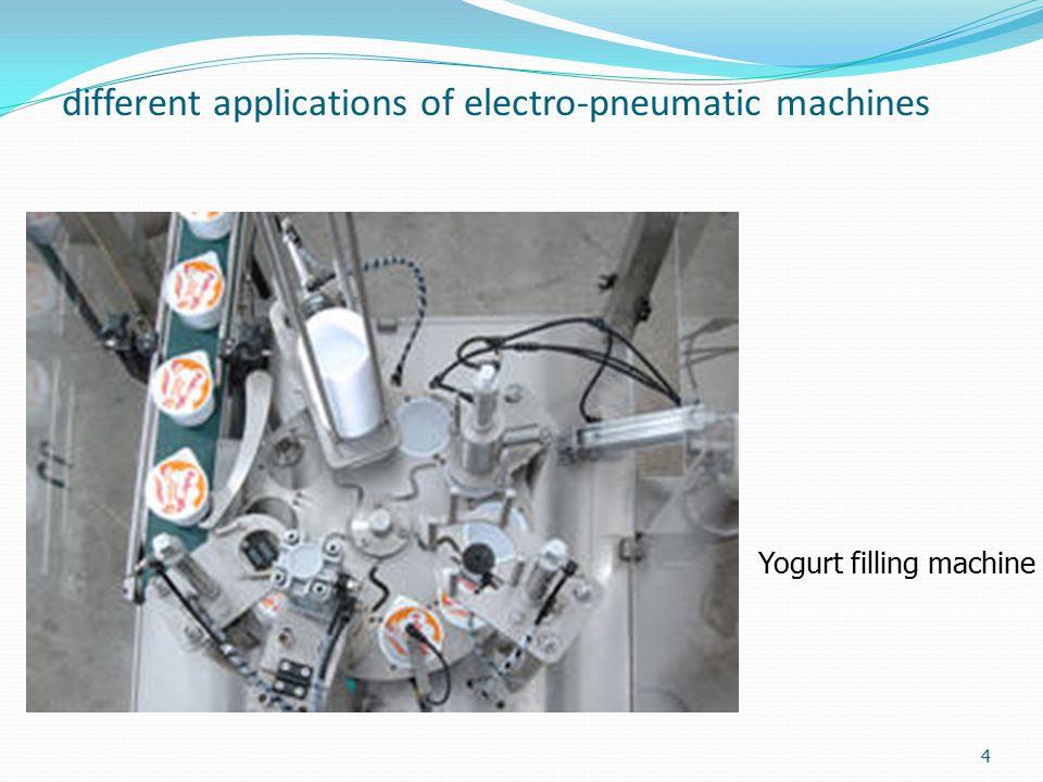different applications of electro-pneumatic machines Yogurt filling machine 4