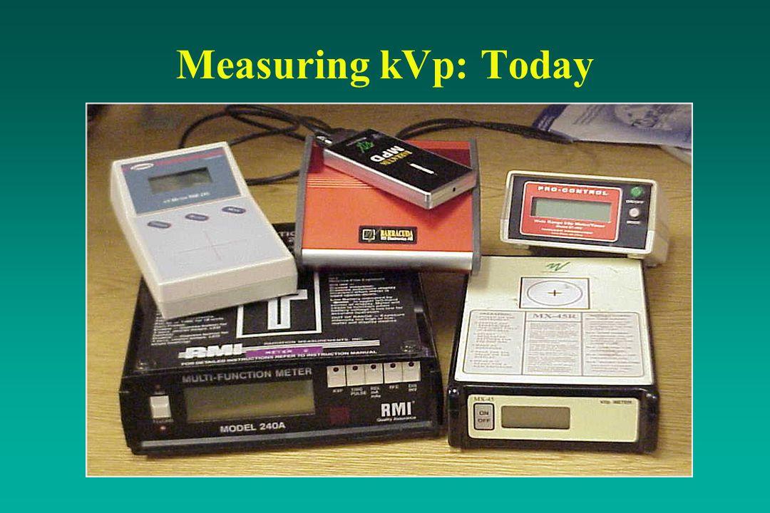 Measuring kVp: Today