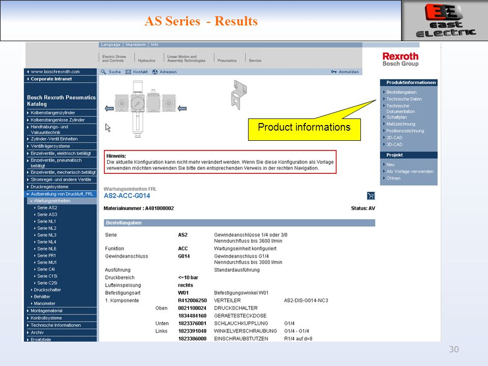 30 AS Series - Results Product informations
