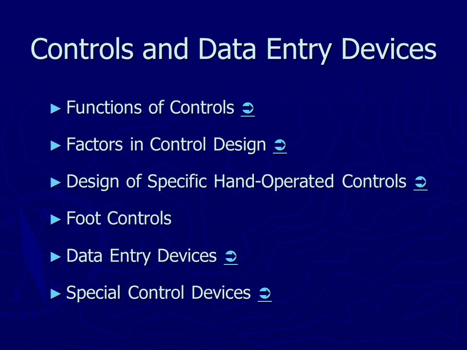Controls and Data Entry Devices ► Functions of Controls   ► Factors in Control Design   ► Design of Specific Hand-Operated Controls   ► Foot Con