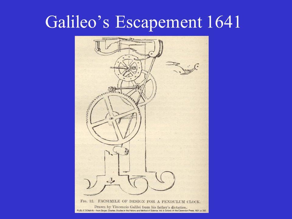 Galileo's Escapement 1641