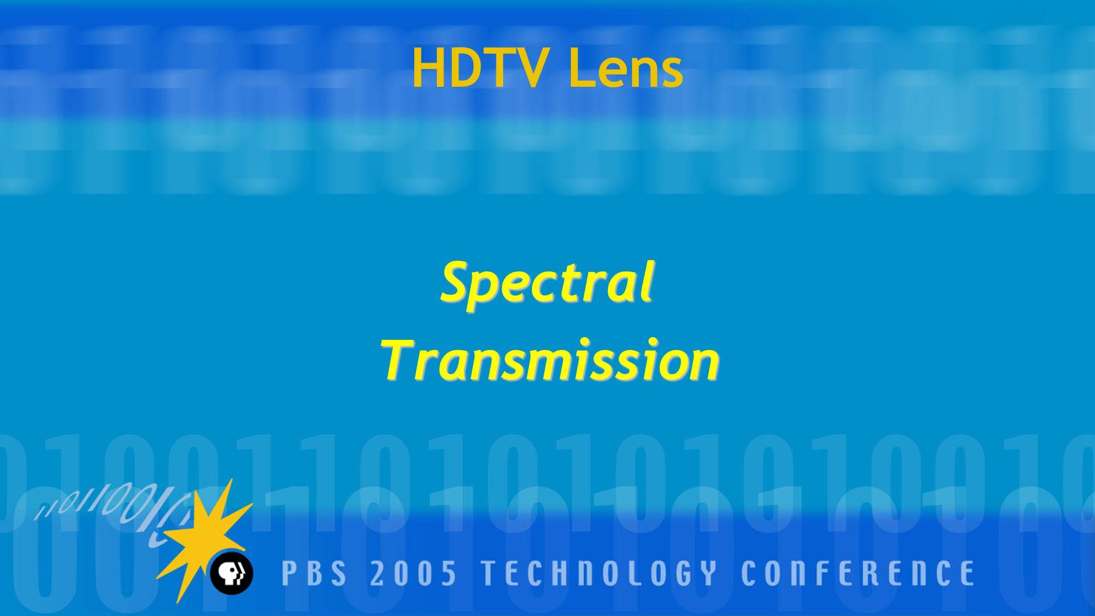 HDTV Lens SpectralTransmission