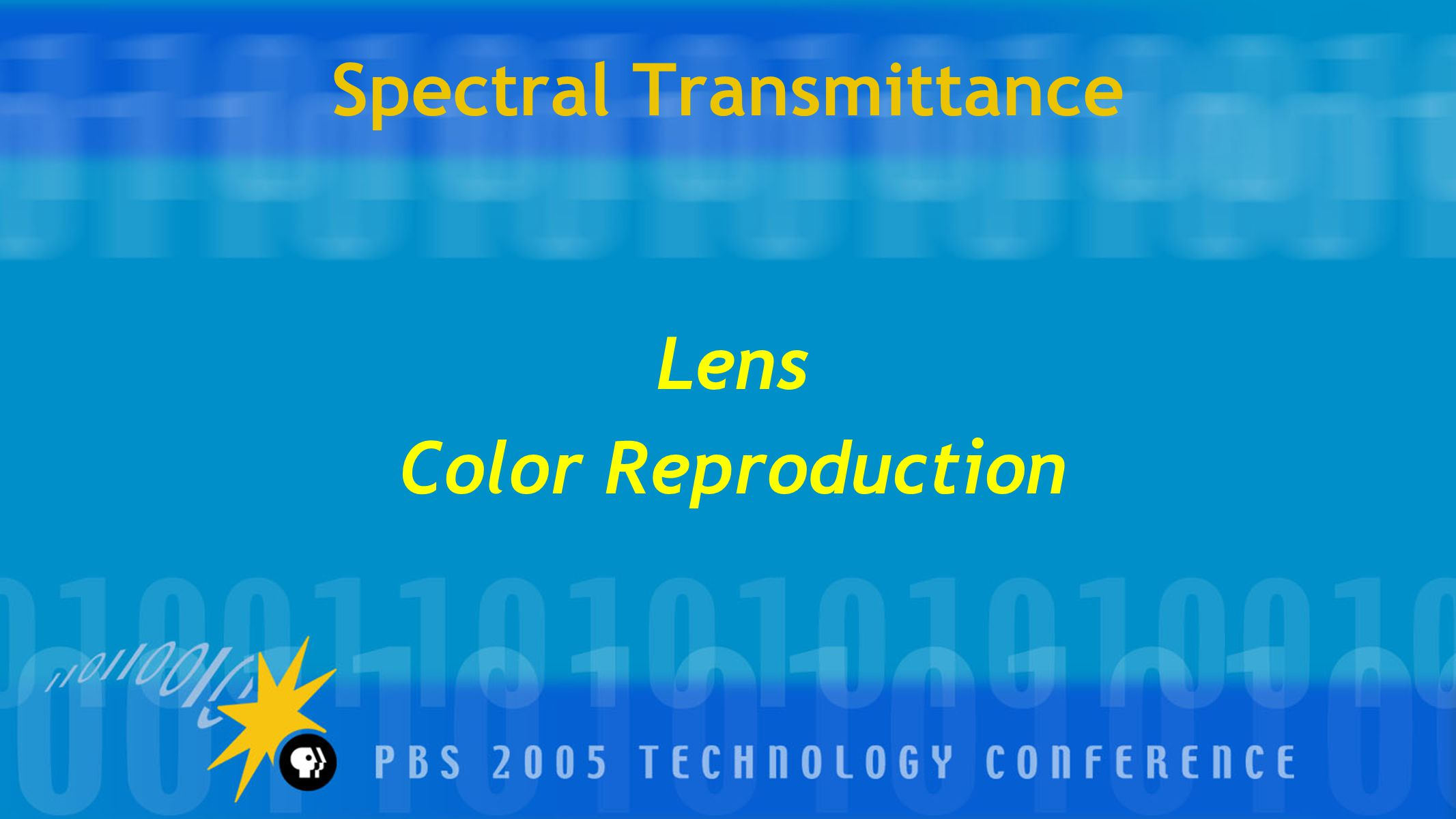 Spectral Transmittance Lens Color Reproduction