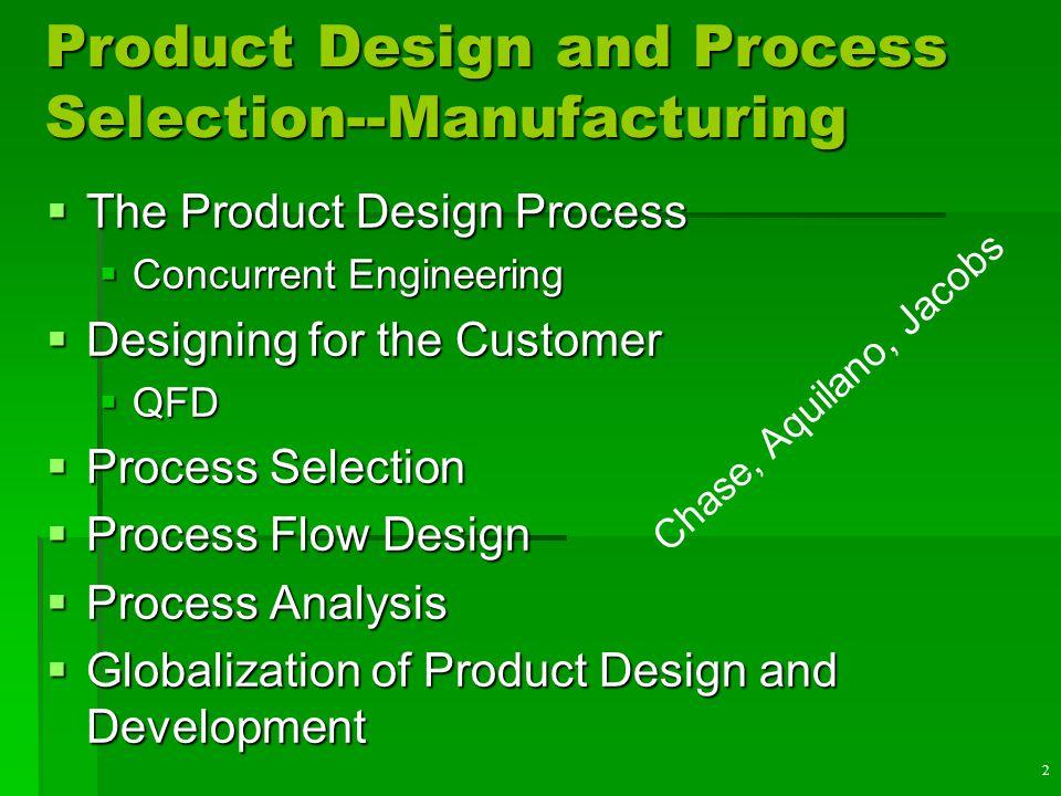12 Process Flow Structures  Job shop  Batch  Assembly Line  Continuous Flow