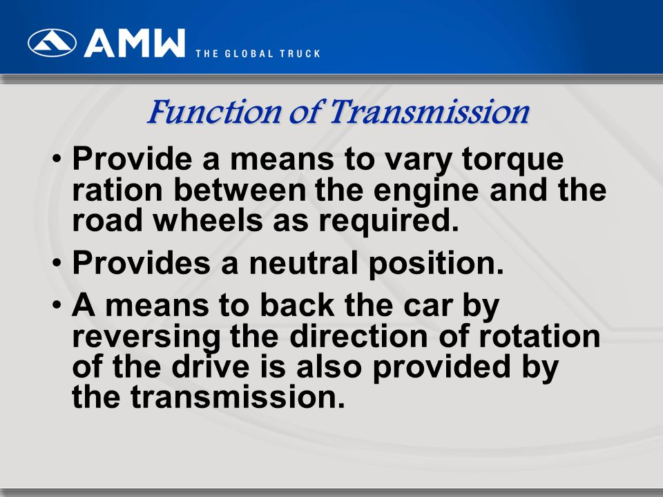 74 Shifting of Transmission ZF-Ecomid transmissions are synchro- mesh transmission.