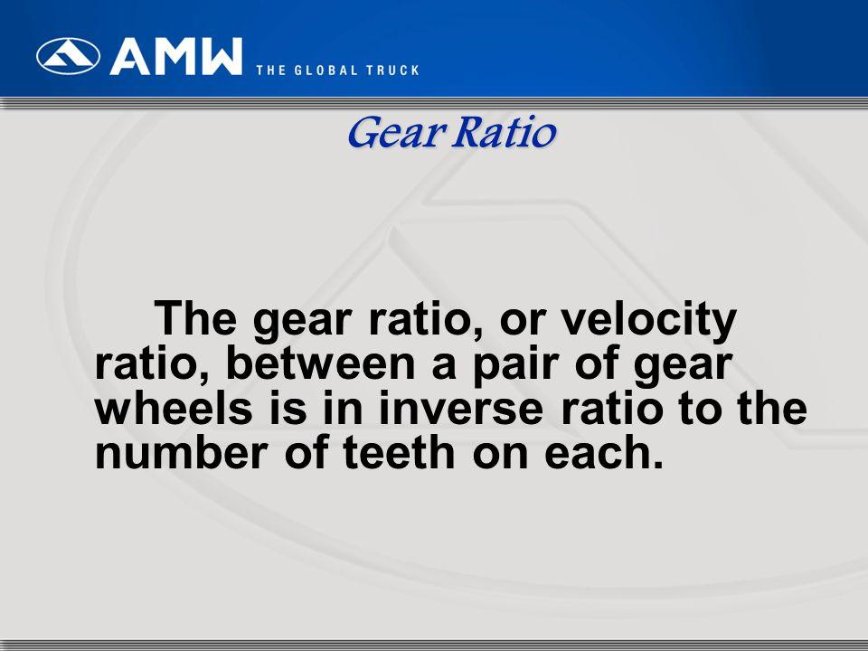 5 Gear Ratio Thus, N B /N A = D A /D B = n A /n B N B = N A (n A /n B )