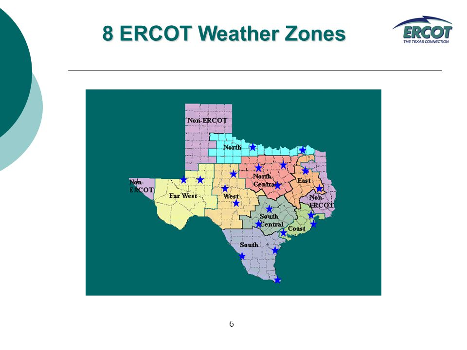 6 8 ERCOT Weather Zones