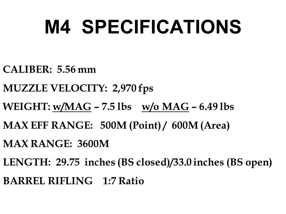 1.M193 – Ball 2.M196 – Tracer 3.M199 – Dummy 4.M200 – Blank (Violet tip and 7 petal rose crimp) 5.M855 – Ball (Green Tip) 6.M856 – Tracer (Red Tip) 7.M862 – Short Range Training Ammunition (Plastic with a Blue Tip) AMMUNITION