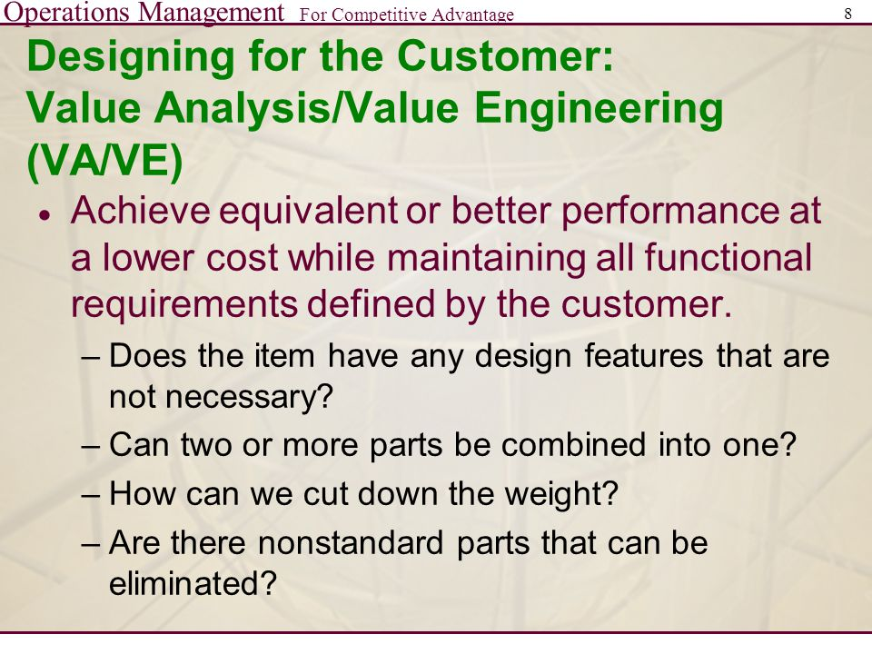 Operations Management For Competitive Advantage 19 Measuring Product Development Performance  Time-to-market  Productivity  Quality