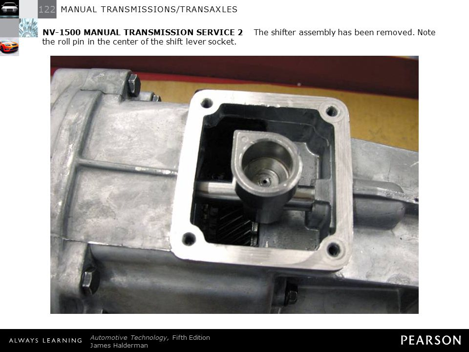 122 MANUAL TRANSMISSIONS/TRANSAXLES Automotive Technology, Fifth Edition James Halderman © 2011 Pearson Education, Inc. All Rights Reserved NV-1500 MA