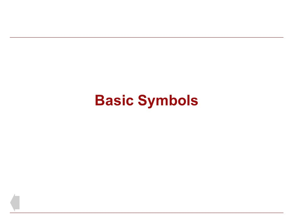 Basic Symbols