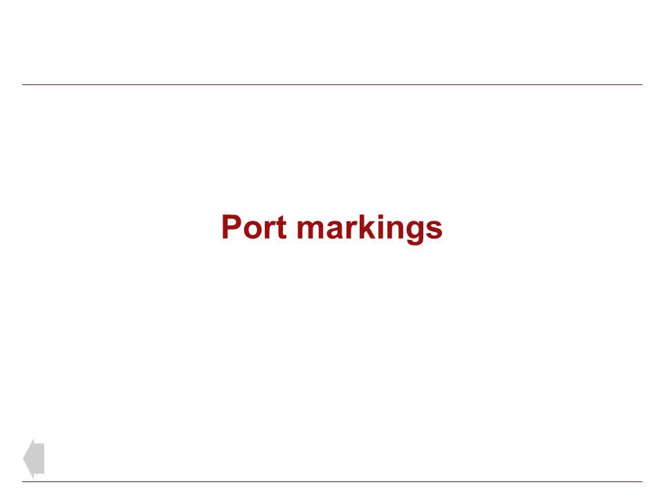 Port markings