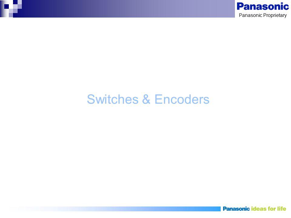 Panasonic Proprietary Switches & Encoders