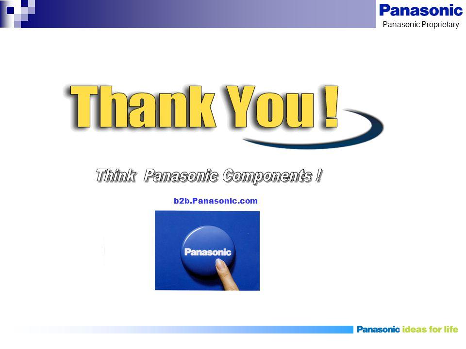 Panasonic Proprietary b2b.Panasonic.com