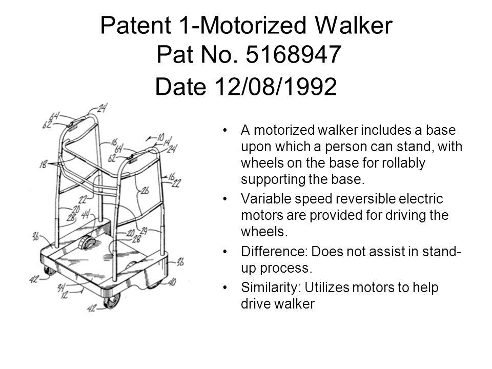 Patent 1-Motorized Walker Pat No.
