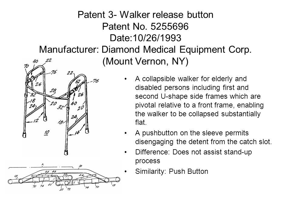 Patent 3- Walker release button Patent No.