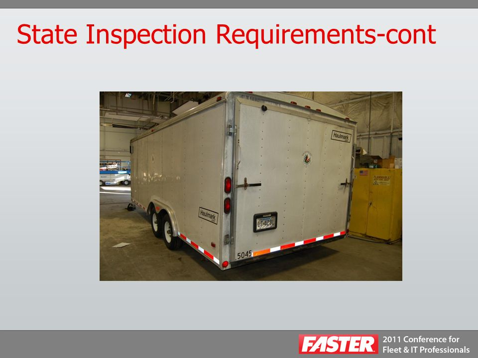 State Inspection Requirements-cont