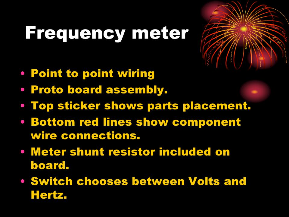 Frequency meter Point to point wiring Proto board assembly.