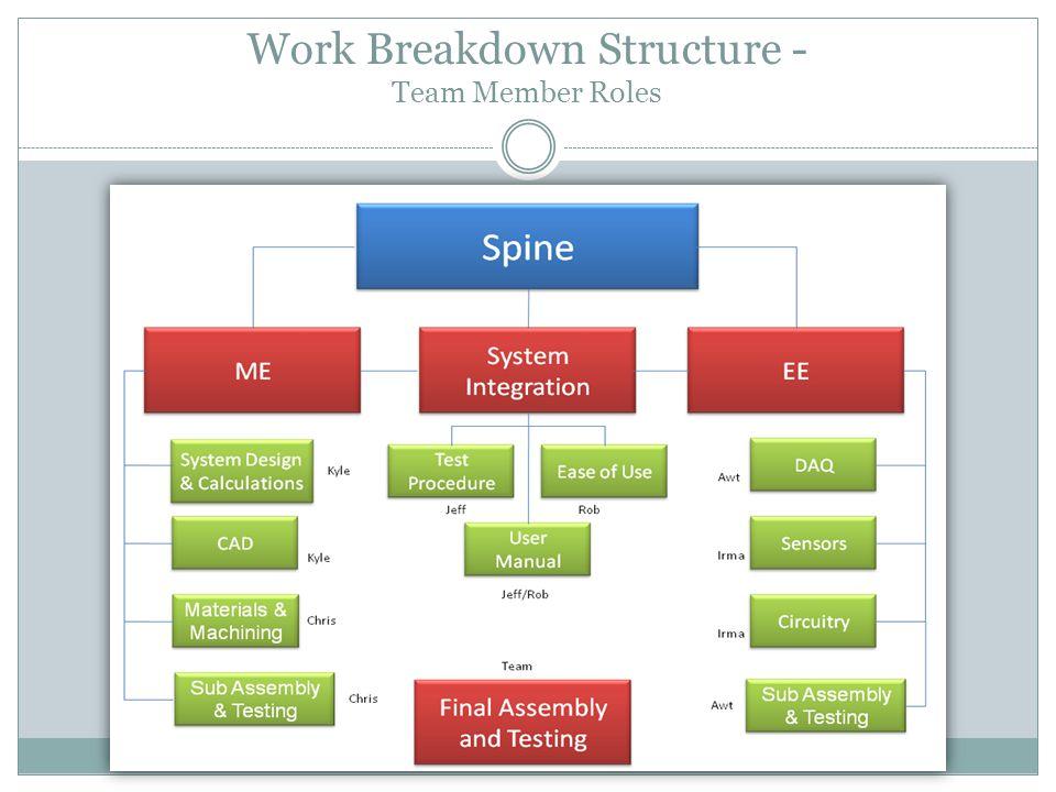 Work Breakdown Structure - Team Member Roles