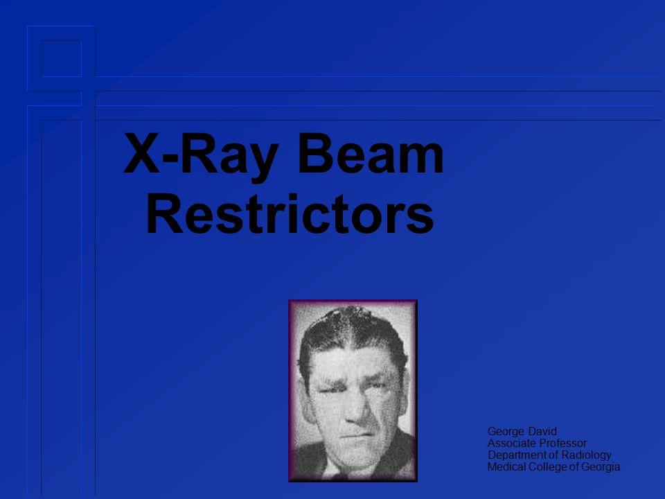 Restrictors Types Aperture Diaphragms Cones and Cylinders Collimators