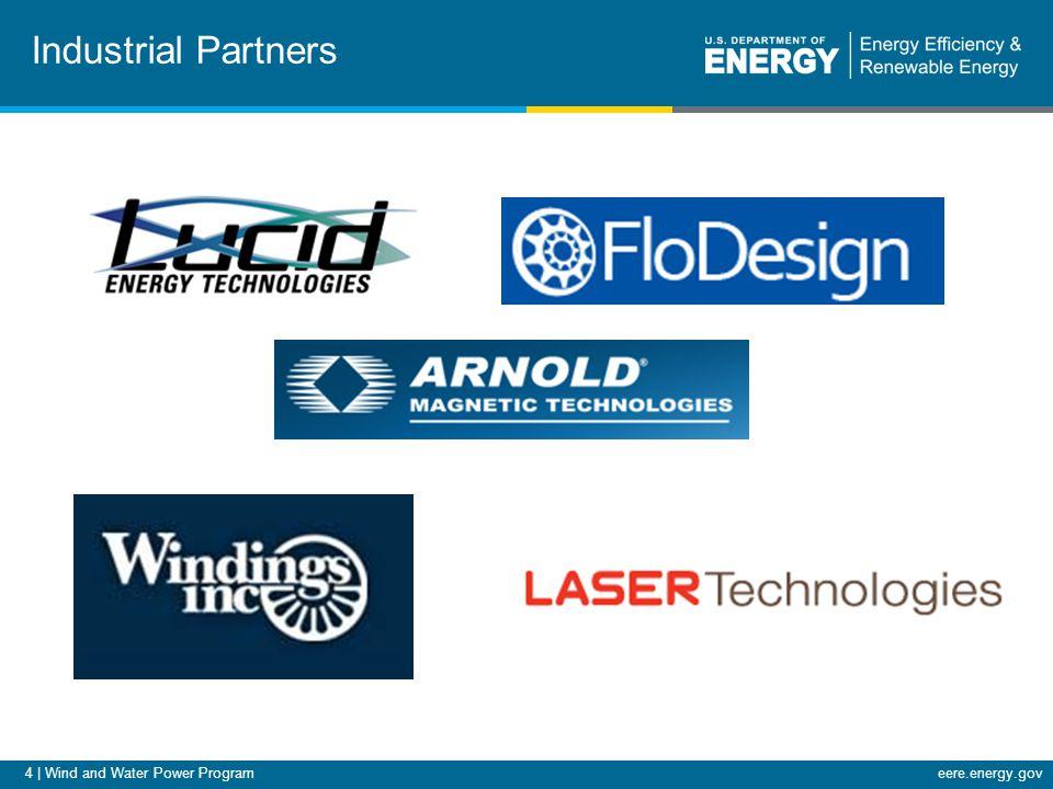 4 | Wind and Water Power Programeere.energy.gov Industrial Partners