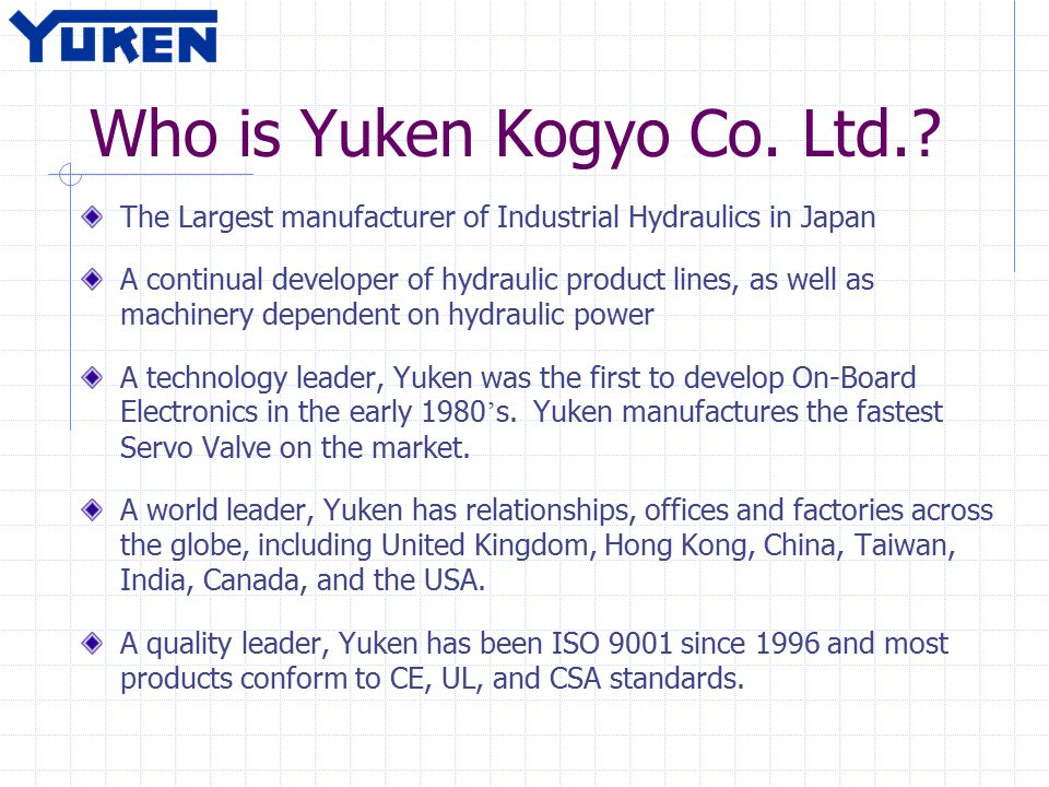 Who is Yuken Kogyo Co. Ltd..