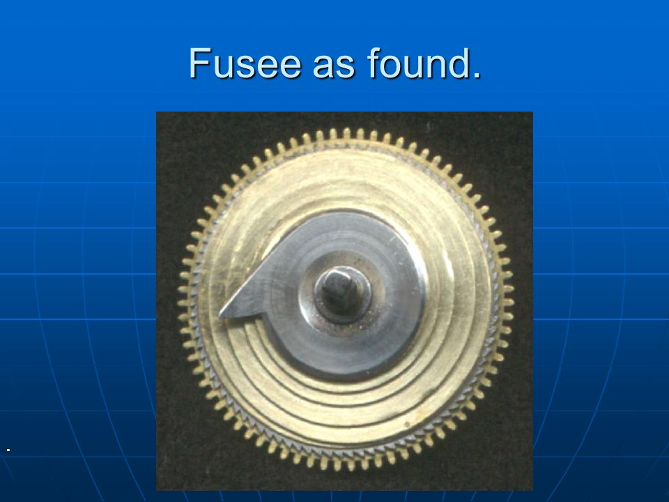 Fusee as found.
