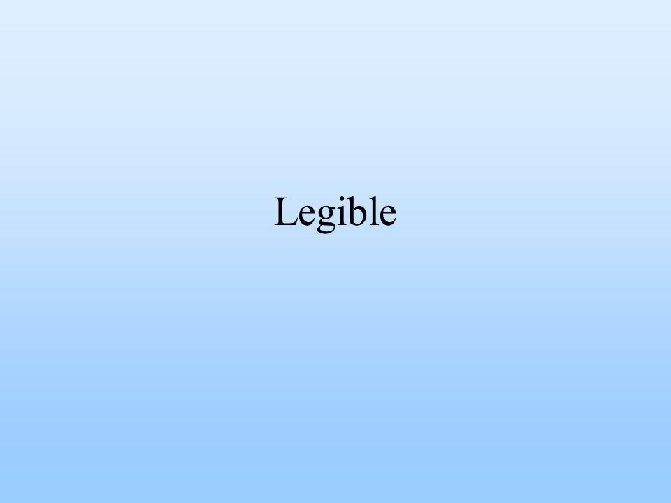 Legible