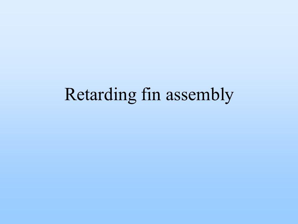 Retarding fin assembly