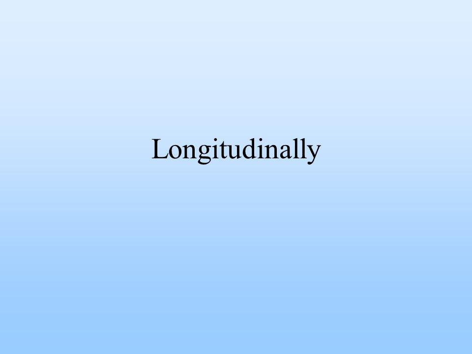 Longitudinally