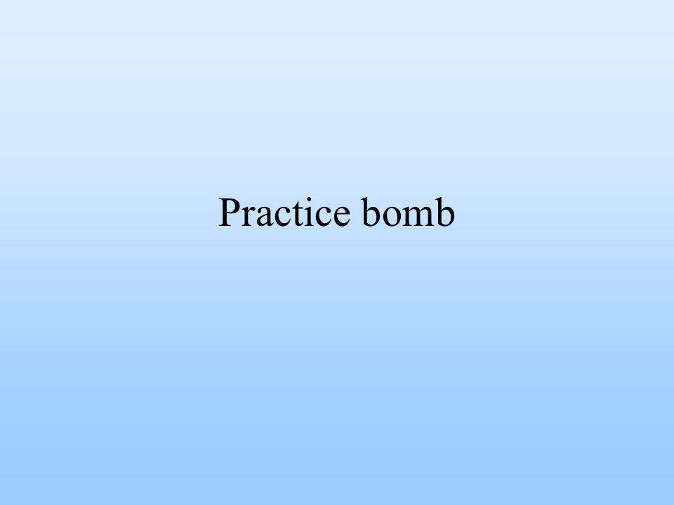 Practice bomb