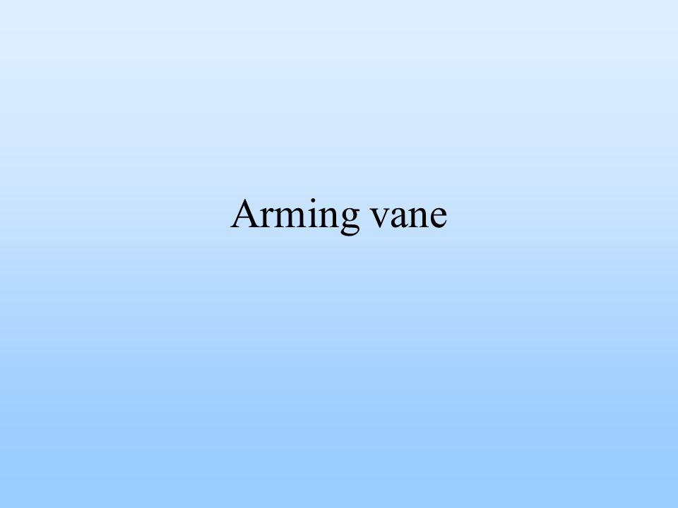 Arming vane