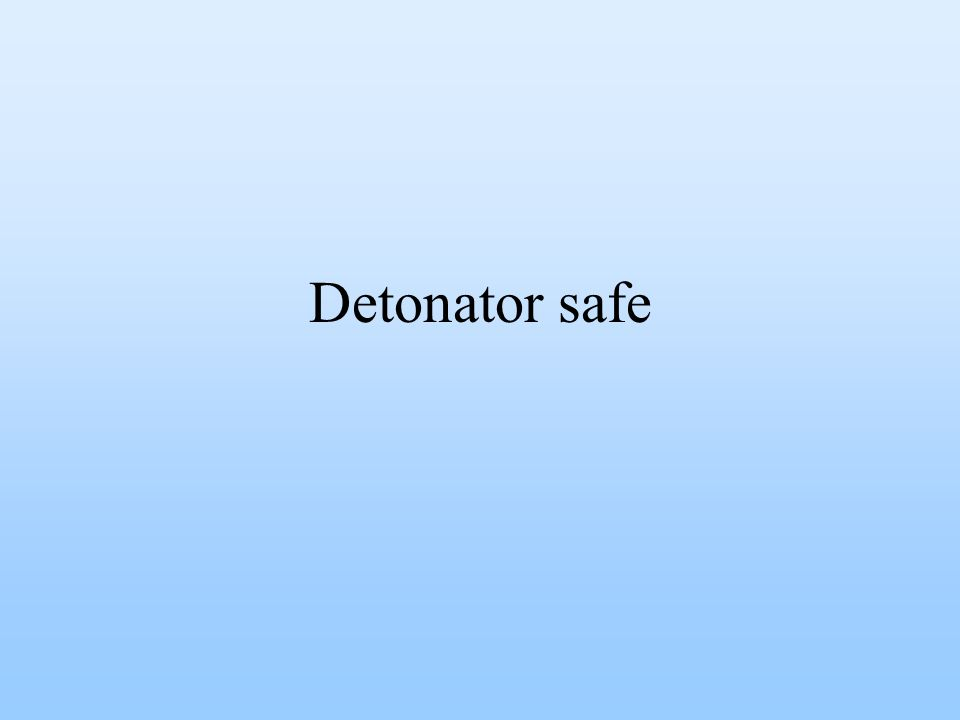 Detonator safe