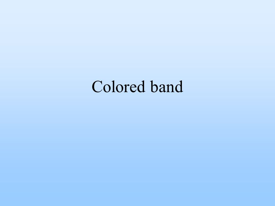 Colored band