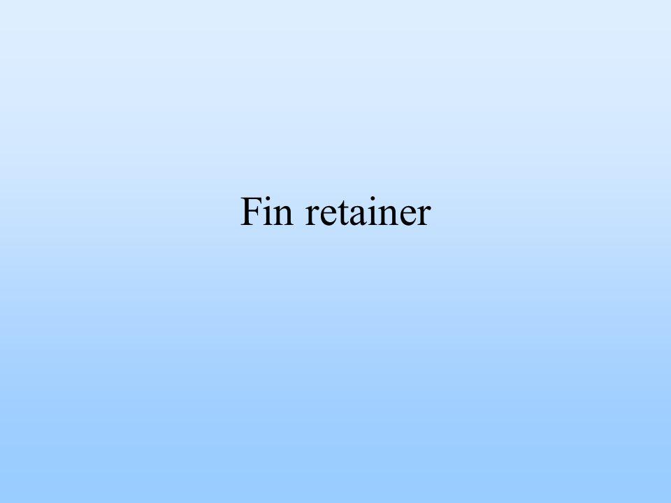 Fin retainer