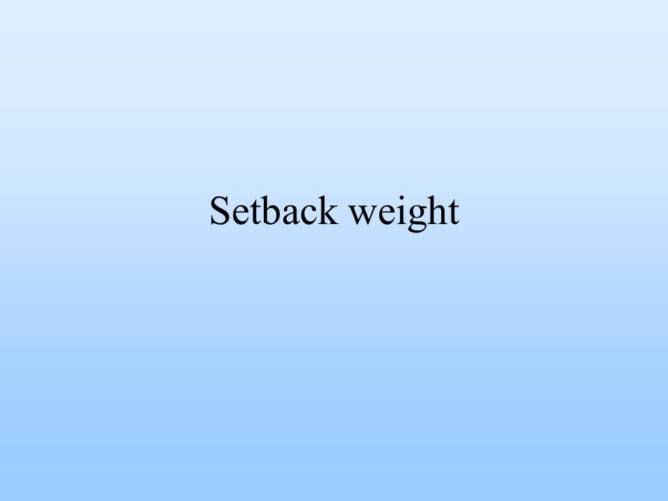 Setback weight
